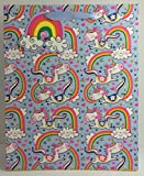 Rachel Ellen Geschenktasche und Geschenkanhänger - Print: Große Einhörner und Regenbögen