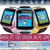 Kameralı Sim Kart Takılabilir Akıllı Çocuk Takip Saati - GPS GPRS WIFI Konumlandırma (Mavi)