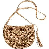 borsa paglia,borsa intrecciata,Borsa a tracolla di tessitura fatta a mano pura,nuove borse di borsa a tracolla di…