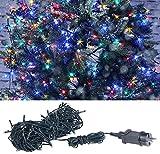 Lunartec Weihnachtslichterketten: LED-Lichterkette mit 160 LEDs für innen & außen, IP44, 4-farbig, 16 m (Lichterkette Kerze)