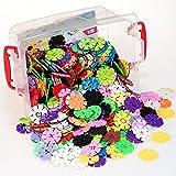 Lysport 360 Stücke Ungiftig Kunststoff Schneeflocken Set Bauspielzeug Lernspiele Bausteine Kinderspielzeug Geschenke Spielzeug für Kinder(ab 3 Jahre)