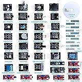 Elegoo 37-in-1 Kit Modulo Sensore Elettronici V1.0 con Tutorial in Inglese per Arduino Uno R3 Mega