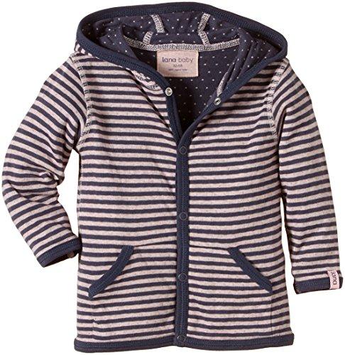 Lana natural wear Baby - Mädchen Jacke Wendejacke Momo, Gestreift, Gr. 80 (Herstellergröße: 74/80), Mehrfarbig (Ombre Blue-Rose Water 2203)
