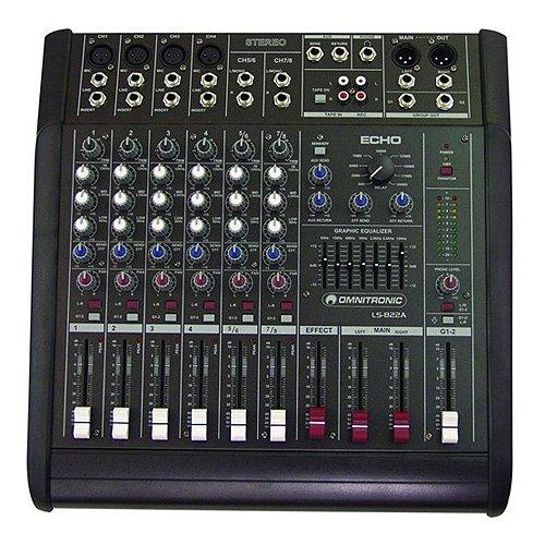 Omnitronic 10060100 LS-822A - Dj-powermixer