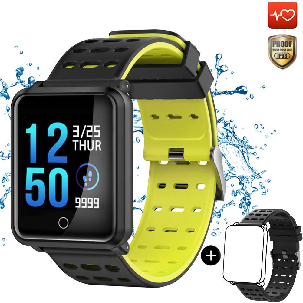 CanMixs Pulsera de Actividad Smartwatch, CM11 Impermeable IP68 Pulsera Inteligente con Podómetro, Monitor de Ritmo… 1