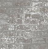 Fine Décor fd41956Loft brick Tapete, grau