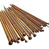 JZK® ganchillos agujas de tejer (36 x agujas de tejer)