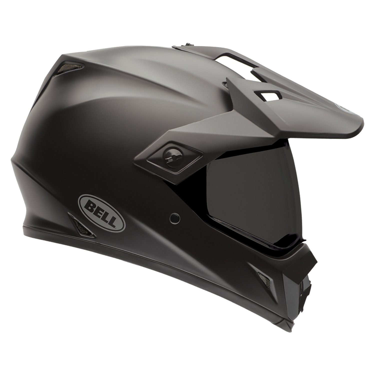 Bell Caschi MX 2015 MX-9 SolidHigh Visiblity Adventure Adult Casco, Solid Nero Opaco, L