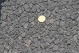 Doubleyou Geovlies & Baustoffe 1kg Lavamulch anthrazit - schwarz - Körnung: 8-16 mm