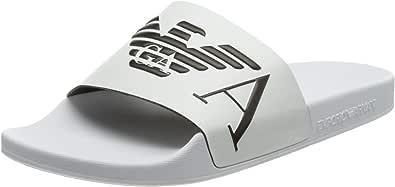 Emporio Armani Men's Swimwear Slipper Monogram Slide Sandal