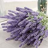 Alcyoneus Lavendel-Kunstblumen, 12Stück, als Bouquet, für den Garten und das Zuhause, zum Basteln, als Dekoration hellviolett