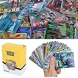 100Pcs Pokemon Cartes Sun & Mood Series 20th Anniversaire Cartes GX Cartes Mega Energy Trainer Cartes (80GX + 5Mega + 15Trainer)