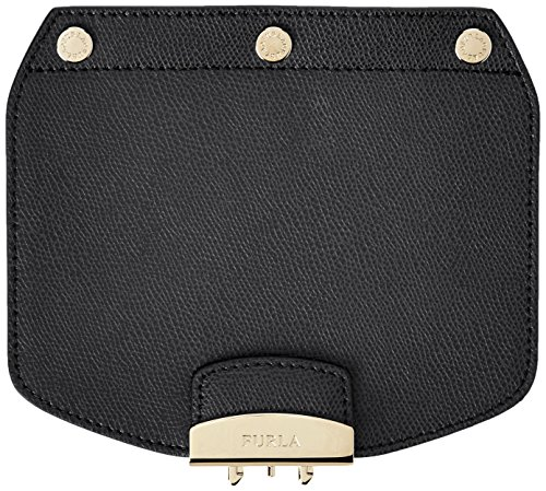 Furla Damen Urban sprawl Mini Crossbody Flap Umhängetasche, Schwarz (Onyx), 1x14.5x17 centimeters