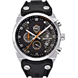 BENYAR 2020 Fashion Men Waterproof 30M Outdoor Multifunction Sports Chronograph Wristwatch Calendar Rubber Luminous Men's Qua