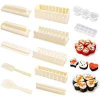 OMEW Sushi Maker Kit 10 PCS Moules à Sushi Kit de Sushi Cuisine Bricolage Facile Sushi Set Riz Rouleau DIY Cuisine…