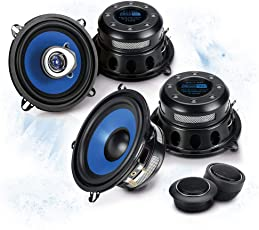 SINUSTEC Front/Heck 13cm/130mm Auto Lautsprecher/Boxen/Speaker Komplett-Set für Renault