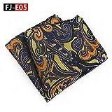 2019 écharpe de serviette de poche de costume sauvage matériel en polyester avec l'écharpe carrée FJ-E05 25 * 25cm