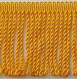 Möbelfranse 8cm - gedreht - Meterware Fransenborte (gelb)