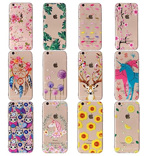 Phone Case & Hülle Für iPhone 6 & 6s Rosen Muster TPU Schutzhülle ( SKU : Ip6g0424e ) Ip6g0424a