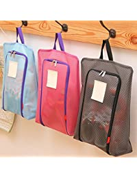 EasyBuy India Rose Red : Portable Waterproof Shoe Bag Travel Tote Toiletries Laundry Pouch Storage Case ZH987