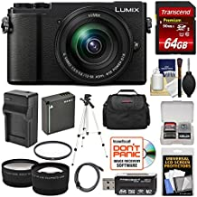 Panasonic Lumix DC-GX9 4K Wi-Fi Digital Camera & 12-60mm Lens (Black) With 64GB Card + Battery & Charger + Case + Tripod + Filter + Tele/Wide Lens Kit