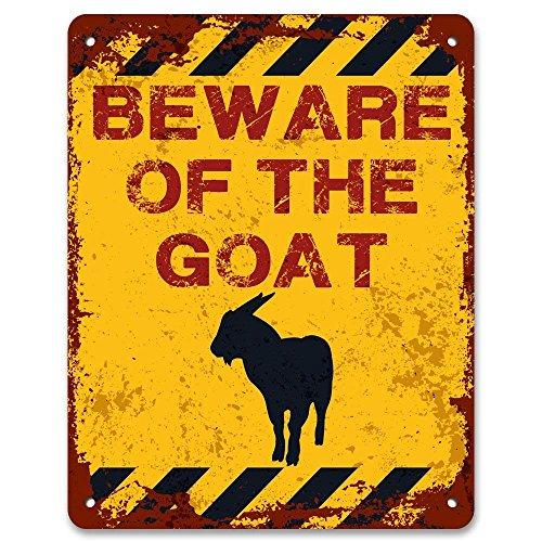 Beware of The Goat-Vintage Effekt Metall Schild/Plakette (Marine Corp Jersey)
