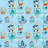 Fabulous Fabrics Baumwollstoff Cretonne AHOI Piraten –