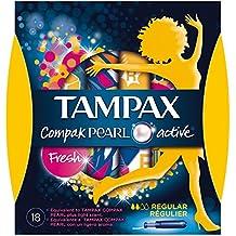 Tampax Compak Pearl Active Fresh Tampons Régulier Avec Applicateur x18 - Lot de 2