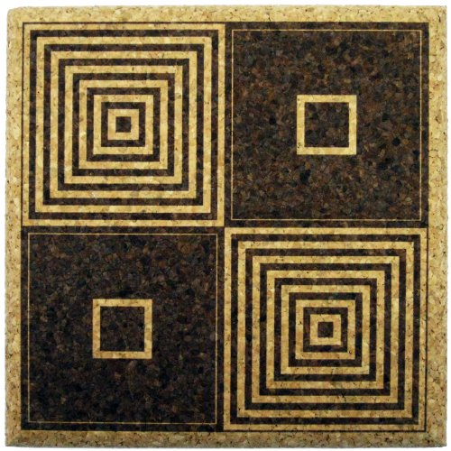 XL Untersetzer Art Deco Quadrate (22,9cm)