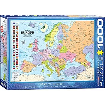 Ravensburger puzzle political world map 1000 pieces amazon eurographics 6000 0789 map of europe puzzle 1000 piece gumiabroncs Gallery