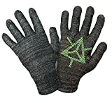 Ingress Edition, Touch Screen Gloves, Faction Enlightened - Entire Surface Works on iPhones, Androids, iPads, & Tablets - Anti Slip Palm for Geocaching Phone Grip - Maintain Dexterity - Large