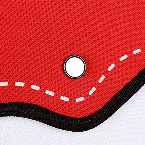 MissFox Unisex Progettazione 3D Salto Da Carta Satchel Borse Rosso