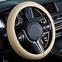 Auto Lenkrad Bezug 38cm Echtleder Hohe Qualität Schwarz Und Beige