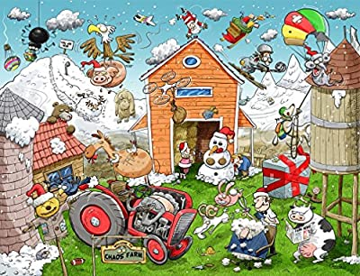 All Jigsaw Puzzles Christmas at Chaos Farm 1000 Piece Jigsaw Puzzle - exclusive to