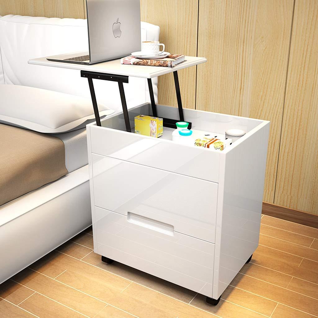 Comodino Semplice Armadietto Personale Semplice Armadio Multifunzione  Camera da Letto Tavolino da Salotto (Color : Bianca, Size : 50x75cm)