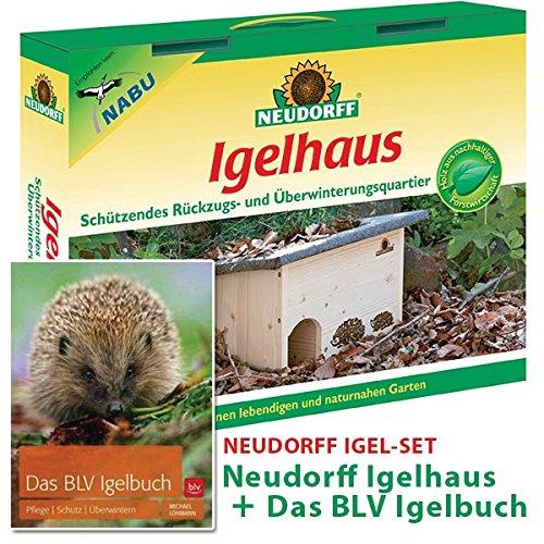 Neudorff Igelhaus SET - Neudorff Igelhaus Bausatz aus Holz + DAS BLV Igelbuch