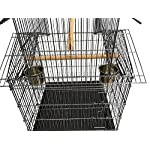 FoxHunter Large Metal Bird Cage Stand For Parrot Macaw Budgie Canary Finch Cockatiel Aviary Lovebird Parakeet With Wheel… 15
