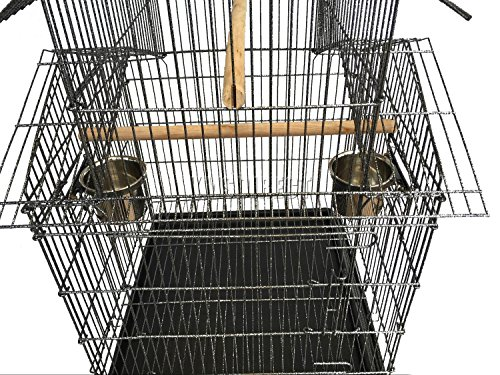 FoxHunter Large Metal Bird Cage Stand For Parrot Macaw Budgie Canary Finch Cockatiel Aviary Lovebird Parakeet With Wheel… 6