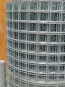 Grillage soudé 1,6m x 30m Grillage en acier 5,2m Largeur 19Jauge fil 2,5x 2,5cm/25mm trous–Clôture de Jardin, cage pour chien, lit de barrière de protection