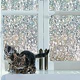 Lemon Cloud 3D Fensterfolie 90x200 Sichtschutz Folie Fenster für Home Dekoration und Sichtschutz,tulpe folie für fenster, 90cmx200cm
