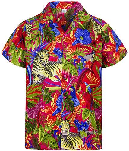 Funky Hawaiihemd, Jungle, Größe XS, pink