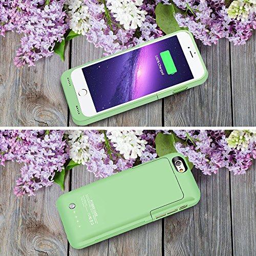 MuzeCoque batterie ultra fine 3500mAh pour iPhone 6(2014)/iPhone 6S (2015) (11,9cm) vert
