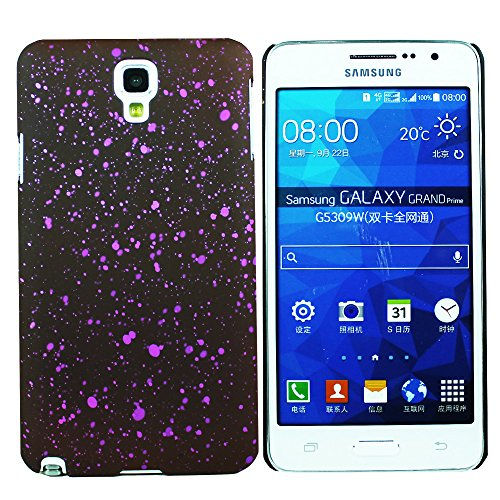 Heartly Night Sky Glitter Star 3D Printed Design Retro Color Armor Hard Bumper Back Case Cover For Samsung Galaxy Note 3 Neo N7500 N7505 - Maroon Purple  available at amazon for Rs.149