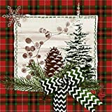 Duni Zelltuch Serviette Naturally Christmas 33x33 cm 50 Stück