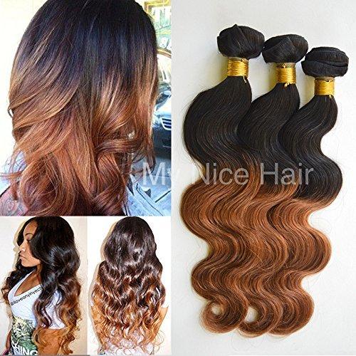 3 Lots 16 18 50,8 cm brésiliens grade 5 A Ombre 1b #/30 # Extensions cheveux Humains Remy Tissage Body Wave 300 g, 2-4 jours Livraison Rapide