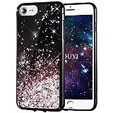 Coque iPhone 8/7,KOUYI Luxe Flottant Liquide Noir Étui Protecteur TPU Bumper Cover...