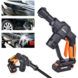 4 Spray Nozzles with Carry Bag Extension Lance 6M Hose Cordless Garden Cleaning Tool//WS8800 Charger WESCO 18V 2.0Ah Portable Wireless Car Washer//Cleaner High Pressure Water Gun