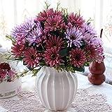 Xin Pang Wohnzimmer Schlafzimmer Innenraum Simulation künstlichen Blumen Anzug Ornamente Home Esstisch Couchtisch Ornamente Fake Topfpflanzen, Schwarz B Weiß +4 Aster Alte Rot