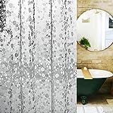 Yulian Duschvorhänge Duschvorhang PEVA Cobblestone Duschvorhänge zu senden Metall Haken wasserdicht und Schimmel transparenten Duschvorhang Hochwertige Duschvorhänge (größe : 150*200cm)