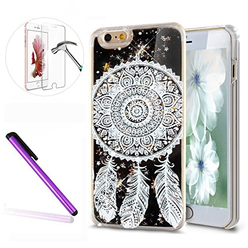 iPhone 6S Coque Silicone,iPhone 6S Coque Bling,iPhone 6S Coque en Silicone Placage Bling Diamant Coque Clair,EMAXELERS iPhone 6 / 6S Silicone Case Silver Slim Soft Gel Cover with Diamond,iPhone 6S Bli D Black Liquid 5